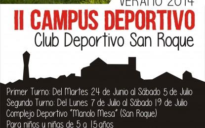 Abierto el período de inscripciones para el II Campus Deportivo CD San Roque