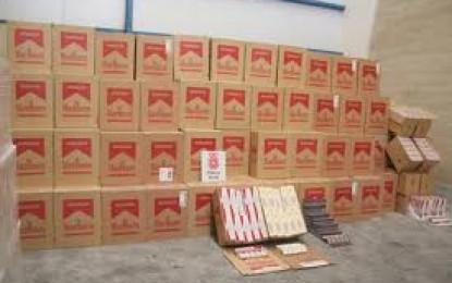 Exitosa operación conjunta de la GDP y el Servicio de Aduanas contra el contrabando de tabaco