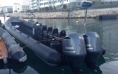 Tres arrestados por la Royal Police de Gibraltar a bordo de una embarcación RHIB