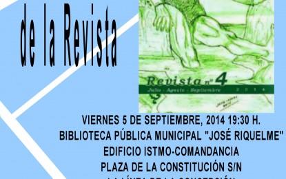 Este viernes, presentación de la Revista Hércules en La Línea