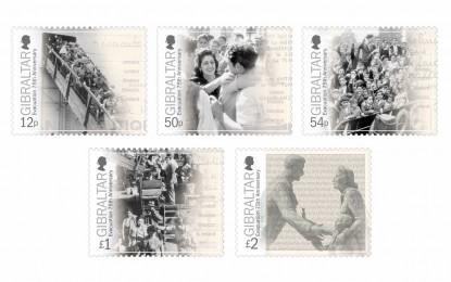 La nueva serie de sellos gibraltareños conmemorativos del 75º aniversario de la Evacuación establecen un record filatélico mundial