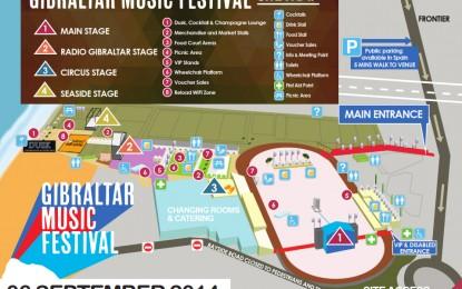 Publicación del plano del Festival de Música de Gibraltar