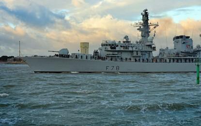 La fragata HMS Kent recala en Gibraltar para zarpar a una operación de seis meses