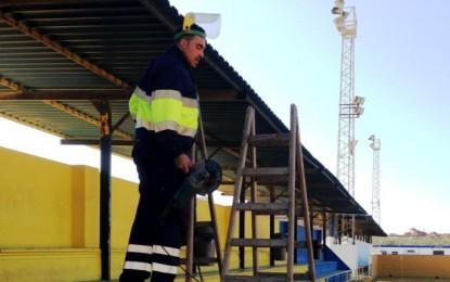 Iniciadas las mejoras en el campo de fútbol del Atlético Zabal