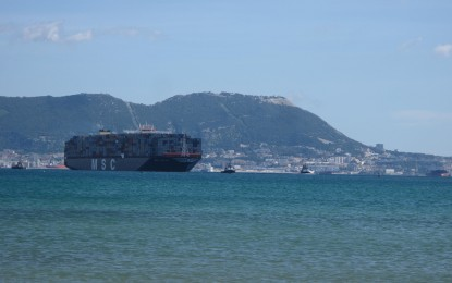 MSC Oscar en Europa, en la terminal de APMT en el Puerto de Algeciras