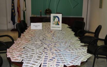 La Policía adscrita a la Junta interviene en Facinas casi 8.000 boletos de lotería ilegal de una organización desmantelada en 2010