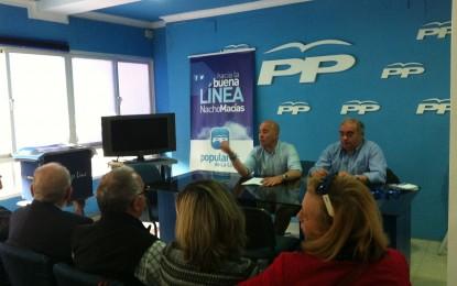 Macías presenta en el PP de La Línea una lista en la que no está Juan Pablo Arriaga y persiste en ella Maite García Mellado