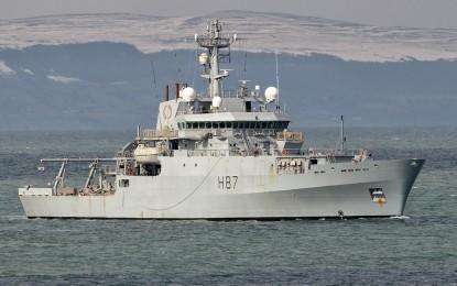 El buque oceanográfico HMS Echo medirá la profundidad de las aguas del puerto de Gibraltar