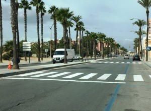 Pasos peatones junto IES Tolosa
