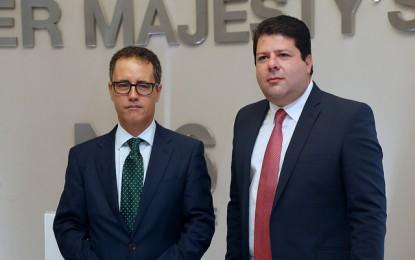 El Ministro Principal y el Viceministro Principal,  en Londres para Consejo Conjunto Ministerial Gibraltar-Reino Unido