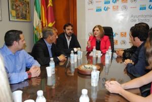 Irene Garcia con el equipo de gobierno de Tarifa
