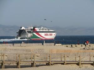 Puerto de Tarifa desde Balneario