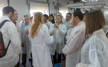 Alumnos del XX Curso Iberoamericano de Gestión Portuaria que esta mañana han visitado el Puerto de Algeciras