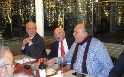 Guillermo Ruiz Calama no quiso perderse la cena de Radio Bahía Gibraltar