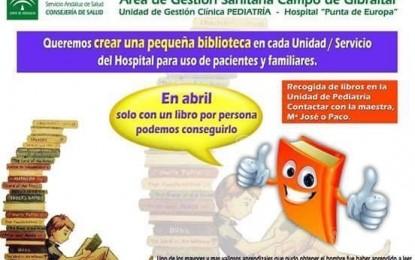 El Hospital Punta de Europa realiza una campaña de recogida de libros para los pacientes ingresados