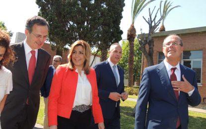 Acto por el 50 aniversario de la Refinería Gibraltar-San Roque de Cepsa, con la presencia de la presidenta de la Junta