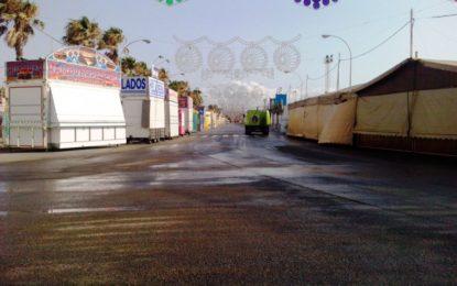 El ayuntamiento finaliza la limpieza del recinto ferial