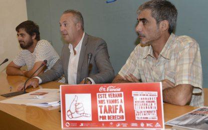 Diputación y la ONG Cooperación Alternativa se dan la mano para que Tarifa 'Tome Conciencia'