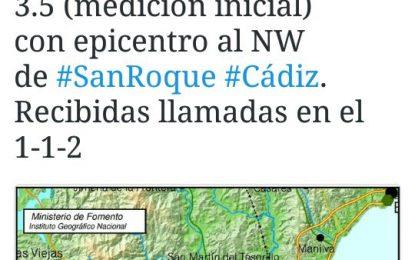 Un terremoto con epicentro en San Roque se deja sentir en la comarca