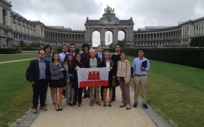 Estudiantes gibraltareños visitan Bruselas