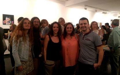 Inaugurada la exposición de trabajos de alumnos del taller de dibujo y pintura de la asociación Reiniciarte
