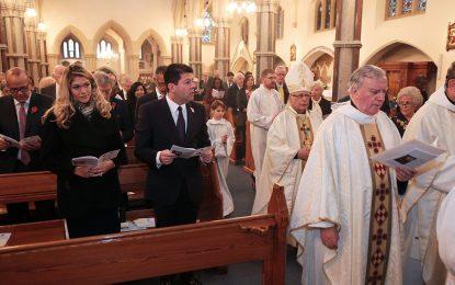 La misa de ayer domingo marcó el inicio de las celebraciones del Día de Gibraltar en Londres