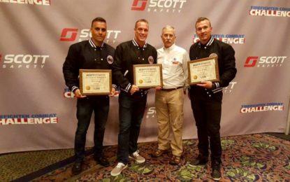 Plata para los Bomberos de Gibraltar en el Campeonato Mundial más duro de la profesión