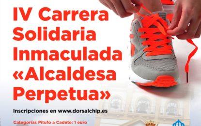 """Veinte voluntarios del Centro de Mayores colaborarán el domingo en la IV Carrera Solidaria  de la Inmaculada """"Alcaldesa Perpetua"""""""