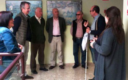 """Representación municipal en las jornada de puertas abiertas de la ONCE llamada """"Mira cómo veo"""""""