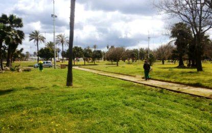 Trabajos del departamento de Parques y Jardines en esta semana