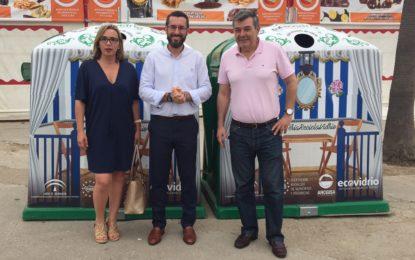 Las veinte casetas de la Velada y Fiestas colaboran con la campaña de reciclaje de vidrio impulsada por Arcgisa