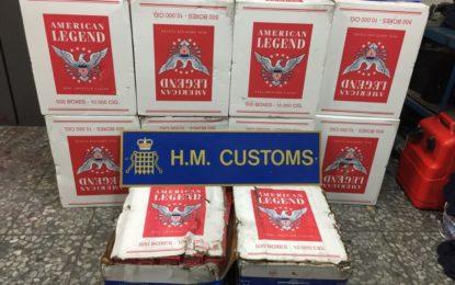 El Servicio de Aduanas de Gibraltar intercepta un alijo de tabaco