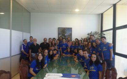 """El alcalde ha recibido a los integrantes de la Orquesta Sinfónica de La Línea tras su participación en el festival """"Eurochestries"""""""