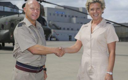 Relevo en el mando de la base de las Fuerzas Aéreas británicas de Gibraltar