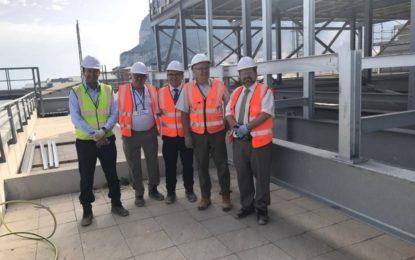 Las obras de la nueva central eléctrica de GNL en Gibraltar avanzan según lo previsto