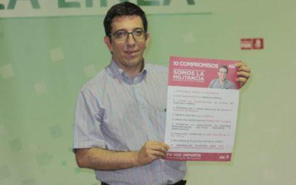 Chacón se muestra satisfecho por la labor realizada por sus compañeros y se pone a disposición de la nueva Ejecutiva Provincial del PSOE