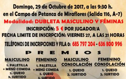 VII Concurso de Petanca a beneficio de la Asociación de Esclerosis Múltiple del Campo de Gibraltar (ADEM-CG)