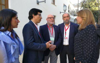 Tornay, Rodriguez y Aragón acompañan en Sevilla a Rocío Arrabal en la presentación de su PNL en el Parlamento y dialogan con Susana Díaz