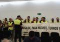 Franco expulsa de nuevo a los policías locales de un pleno en el que se congela el IBI