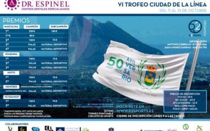 Deportes colabora en la celebración del torneo de pádel organizado con motivo del 50 aniversario del Linense Tenis Club