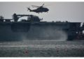 Tras las operaciones de rescate en el Caribe, HMS Ocean pasa por Gibraltar para asumir el mando de la Agrupación Naval Permanente de la OTAN en el Mediterráneo