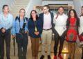 El alcalde, en la inauguración de la exposición de esgrima en el Museo Cruz Herrera