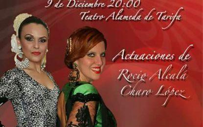 Acto Solidario a beneficio de ADEM-CG de las artistas Rocío Alcala y Charo Lopez, en el Teatro Alameda de Tarifa