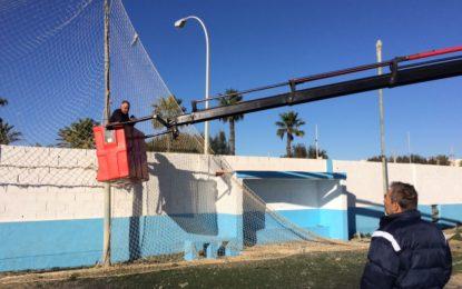 Continúan las mejoras de campos de fútbol municipales realizadas por la delegación de Deportes