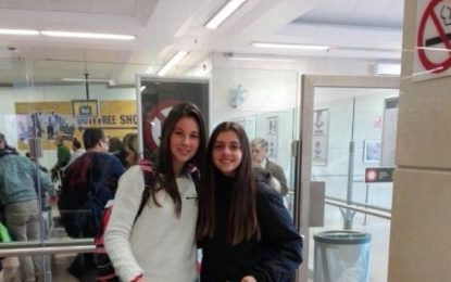 La linense Marta Herrera, camino de Madrid para participar con la selección española sub 16