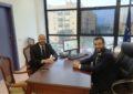 Franco recibe al nuevo presidente de la Balona, Rafaelle Pandalone