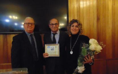 Loren Periáñez, Levi Attias y Ana León, socios de Honor de la Asociación 'Mar del Sur'