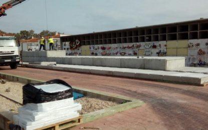 Comienza la construcción de 300 nuevos nichos en el cementerio de San José