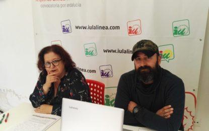 """IU presenta su nueva campaña """"La Línea, ciudad amable""""  y tilda a Cefe Peño de """"perra faldera de Franco"""""""