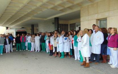 Los sindicatos del Hospital de La Línea se han manifestado esta mañana